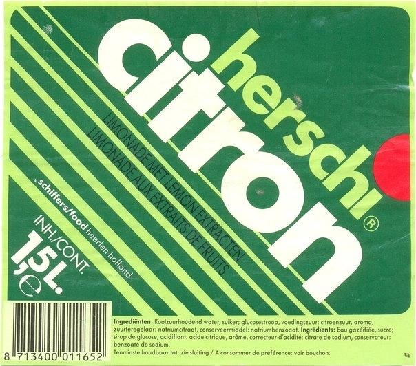 Herschi soda labels (1990–98) 1