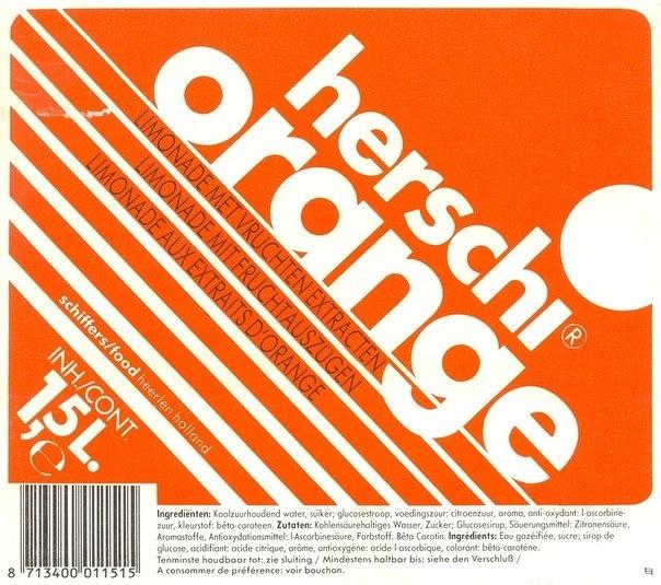 Herschi soda labels (1990–98) 2