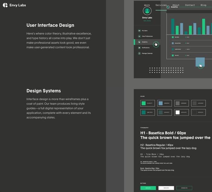 Envy Labs website 3