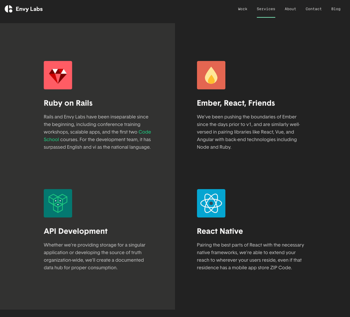 Envy Labs website 4