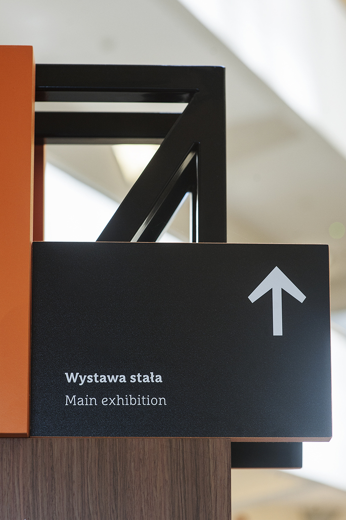 Wayfinding elements in Emigration Museum, Gdynia 3