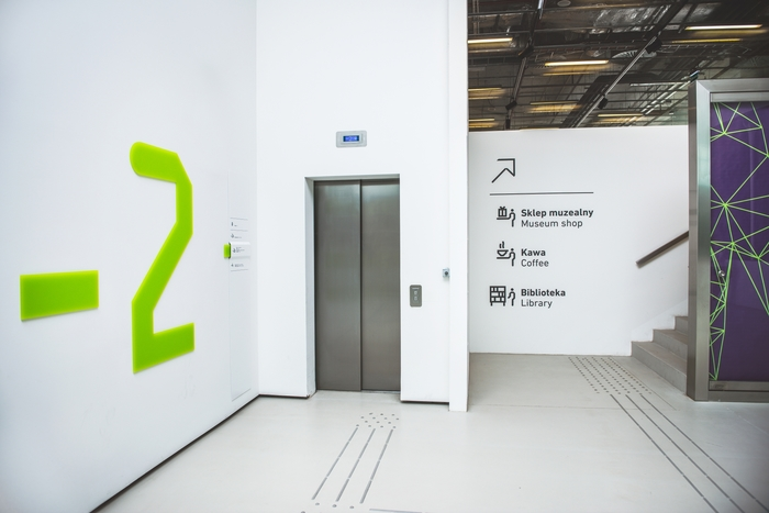 Wayfinding system in Silesian Museum 2