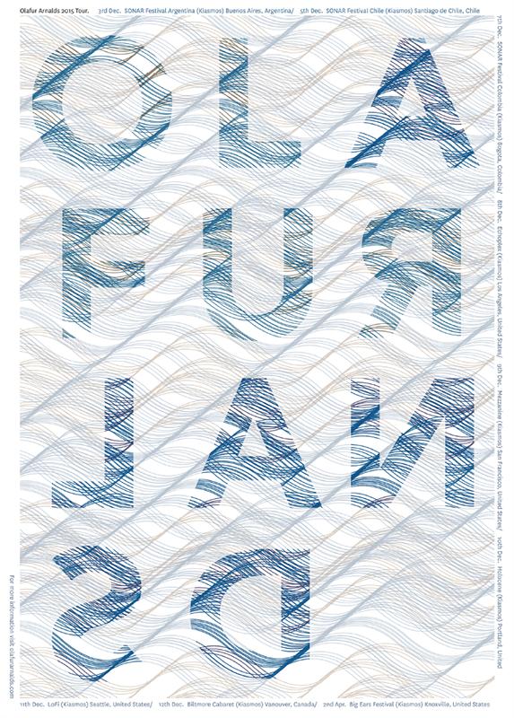 Olafur Arnalds 2015 Tour poster 1