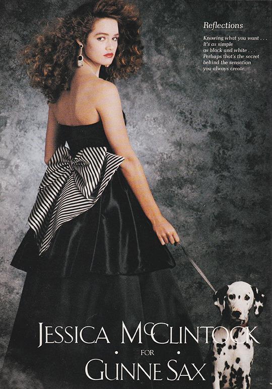 Jessica McClintock ads (1987–91) 2