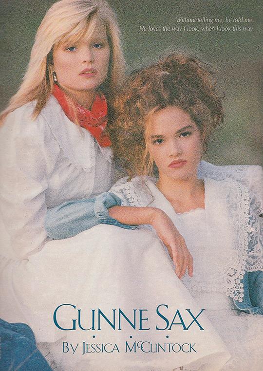 Jessica McClintock ads (1987–91) 1