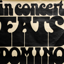 Fats Domino in concert, tour poster 1973