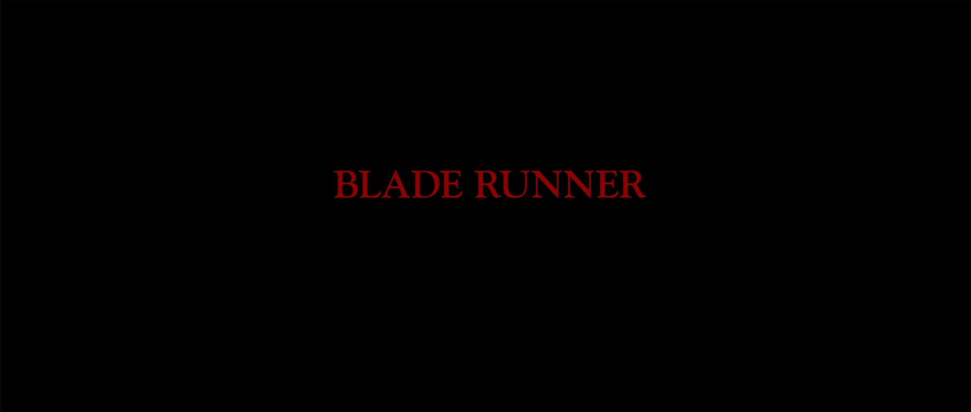 blade runner title sequence workprint and theatrical versions