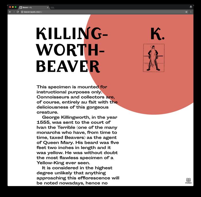 Beaver by John Kettelwell, Pavel Kedich web edition 3