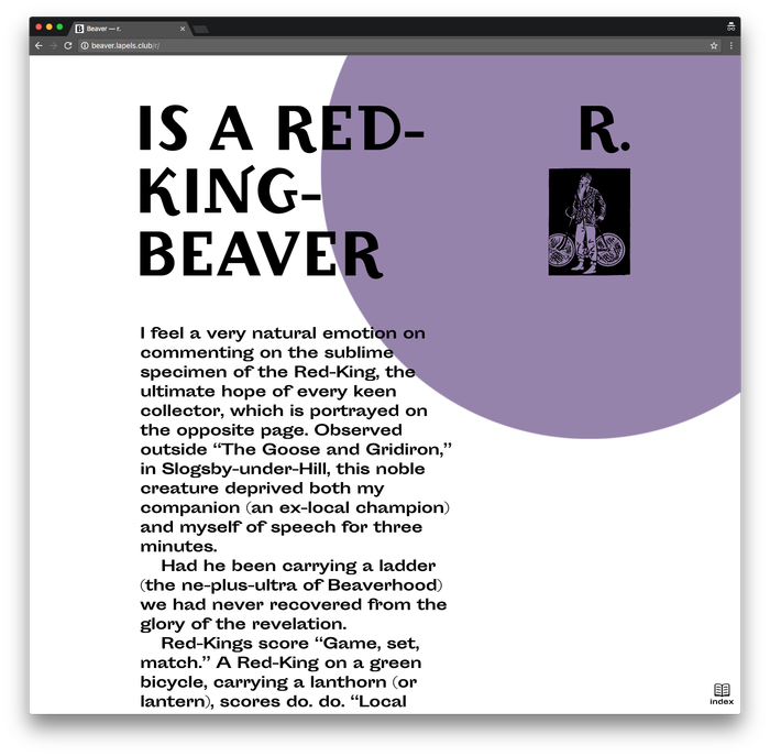 Beaver by John Kettelwell, Pavel Kedich web edition 4
