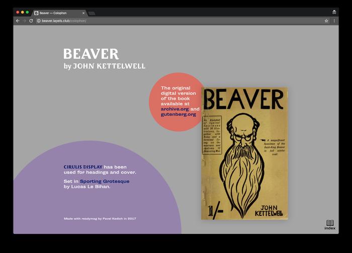 Beaver by John Kettelwell, Pavel Kedich web edition 5