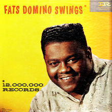 Fats Domino – <cite>Fats Domino Swings </cite>album art