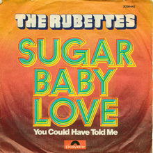 "The Rubettes – ""Sugar Baby Love"" single cover"