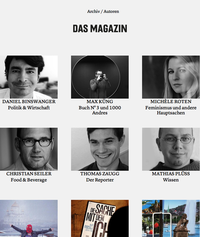 Das Magazin Blog 1