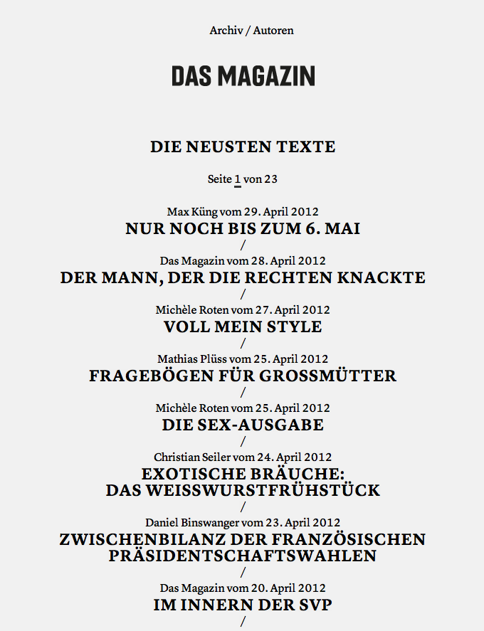 Das Magazin Blog 3