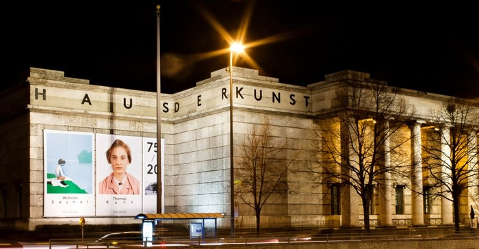 Signage of Haus der Kunst in Munich