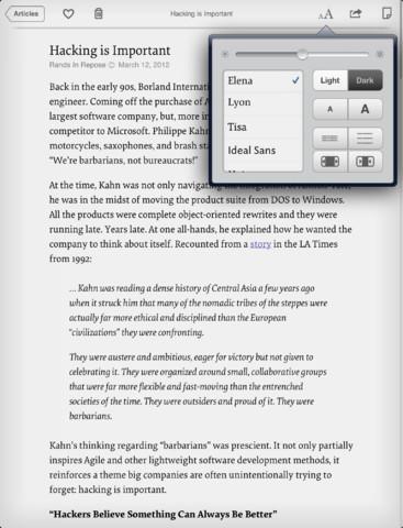 Instapaper iOS App 8