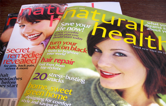 Natural Health magazine, 2004 Redesign 1