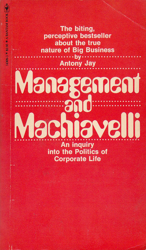 Management and Machiavelli book cover