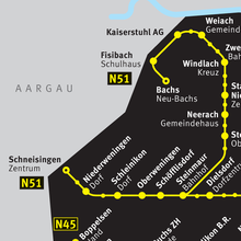 ZVV Nighttime Network Map