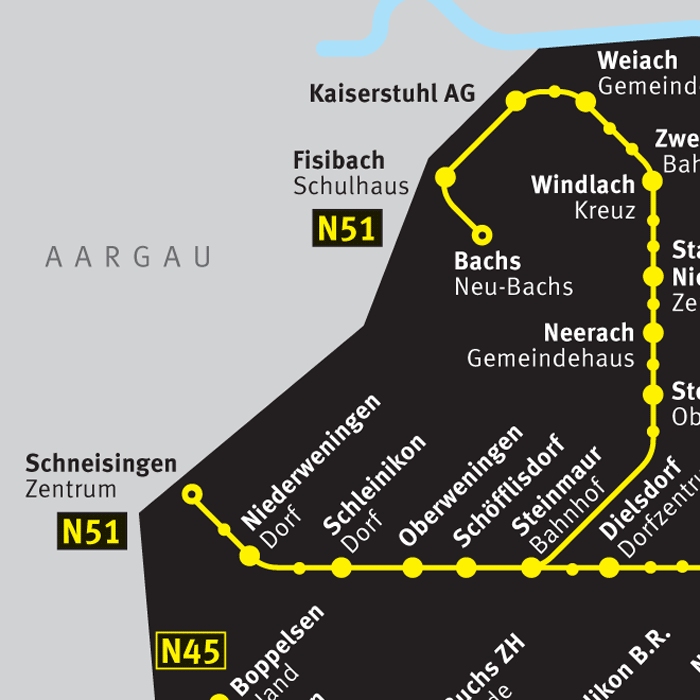 ZVV Nighttime Network Map 2