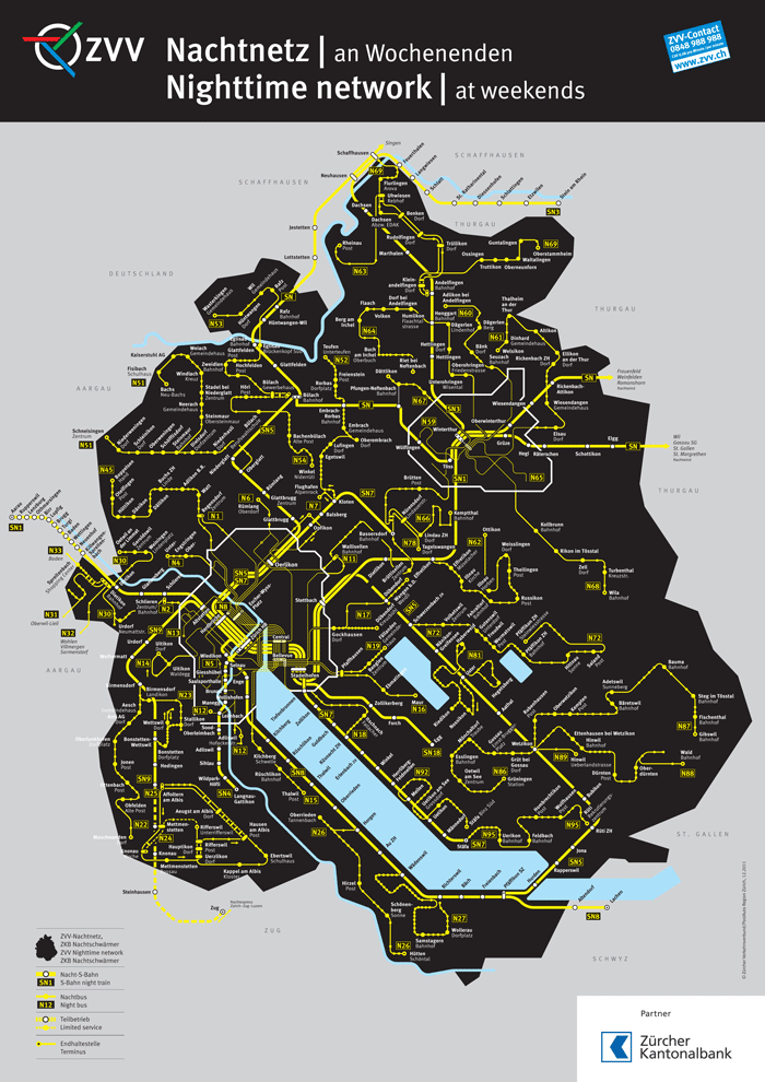 ZVV Nighttime Network Map 3