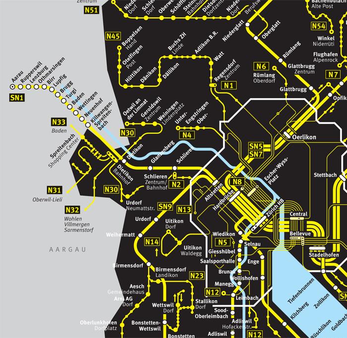 ZVV Nighttime Network Map 4