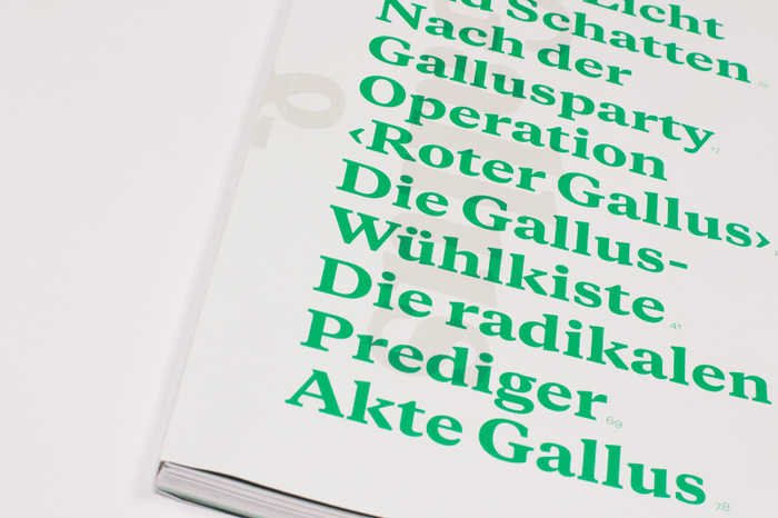 "Typotron booklet ""Gallus & Pretoria"" 2"