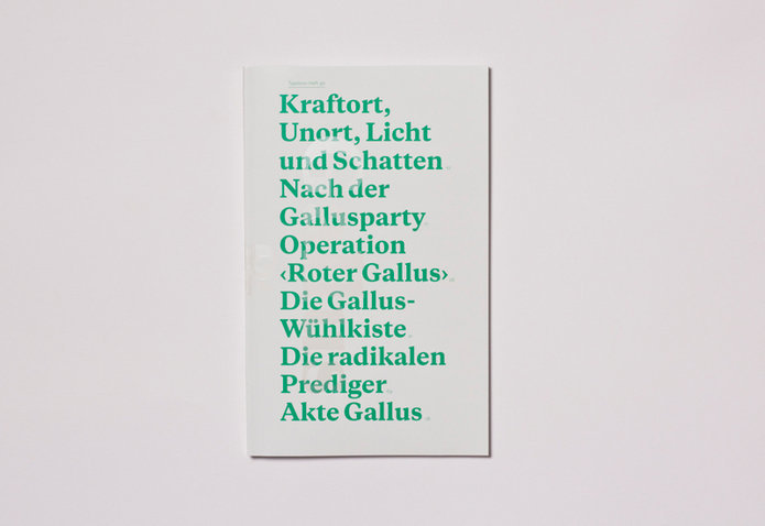 "Typotron booklet ""Gallus & Pretoria"" 3"