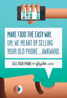 Glyde.com print ads