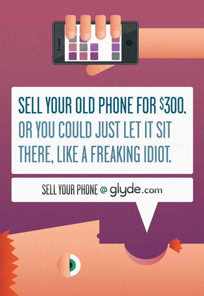 Glyde.com print ads 2