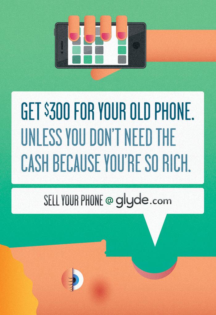 Glyde.com print ads 3