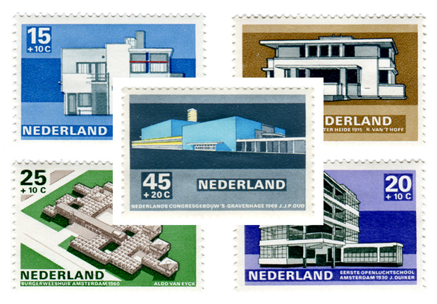 Modern Dutch Architecture Stamps (1969) 1
