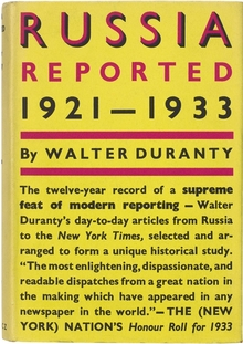 <cite>Russia Reported: 1921–1933</cite> by Walter Duranty