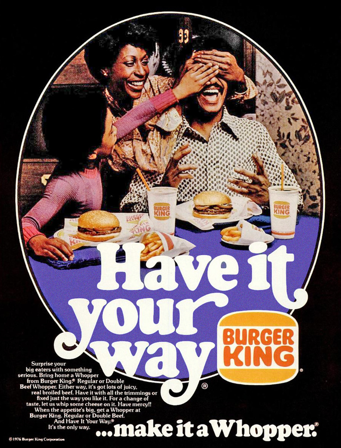 "Burger King 1970s ""Have it your way"" ads 1"