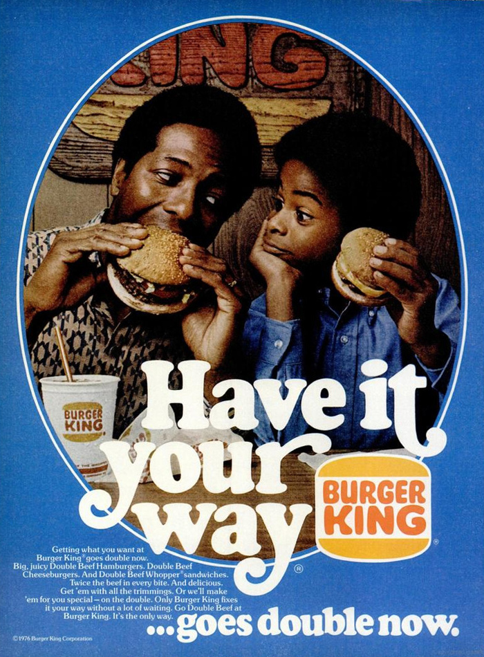 """Burger King 1970s """"Have it your way"""" ads 2"""