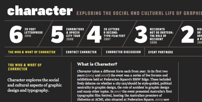 Character website 4