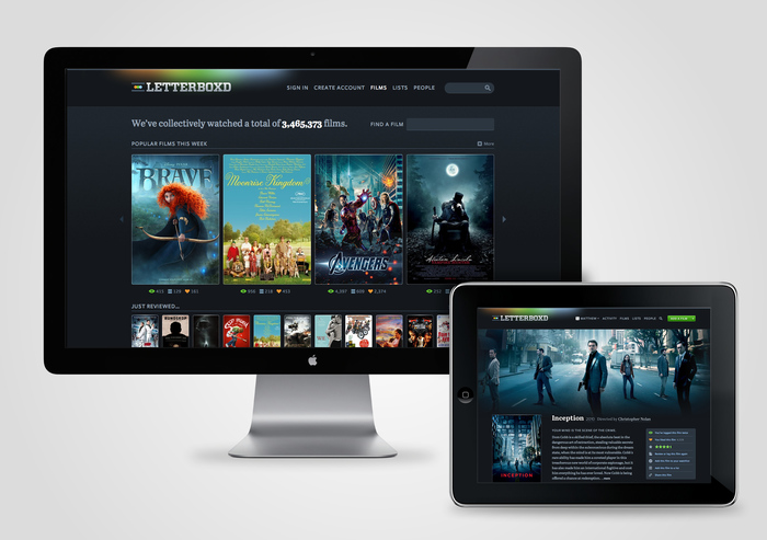 Letterboxd website (2011–2013) 1