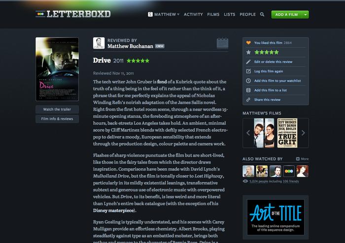 Letterboxd website (2011–2013) 3