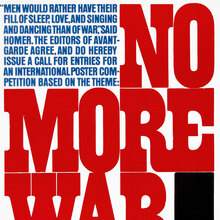 """No More War"" – <i>Avant Garde</i> Magazine Call for Entries"