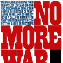 """No More War"" – <cite>Avant Garde</cite> magazine call for entries"