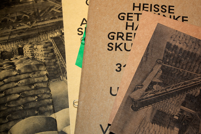 Various printed matter for the exhibition.
