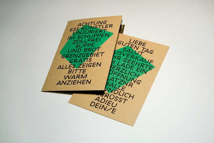 Invitational cards.