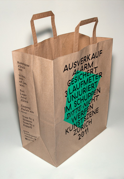 Paper bag for the exhibition.