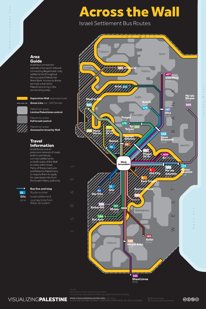 Bus Routes of Greater Israel/Palestine 2
