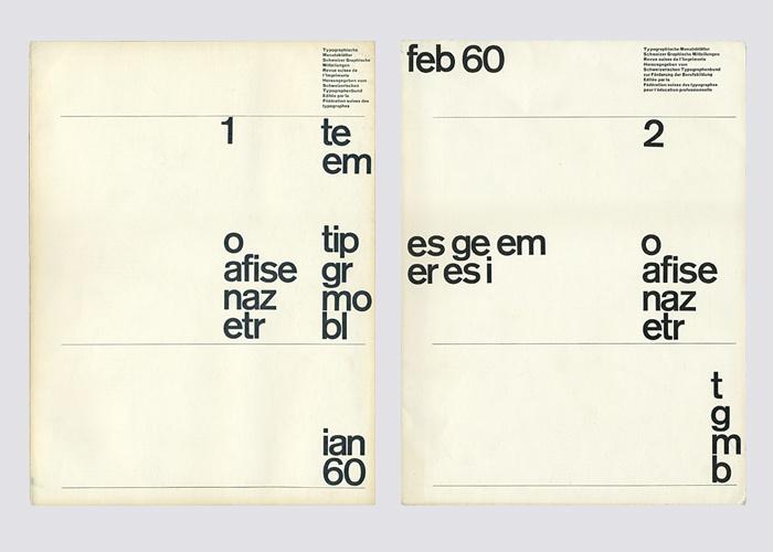 Typografische Monatsblätter,  Nos. 1–7 3