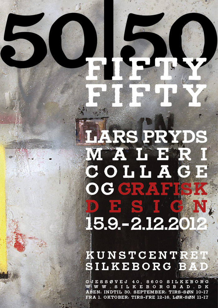 Fifty/Fifty exhibition posters 2