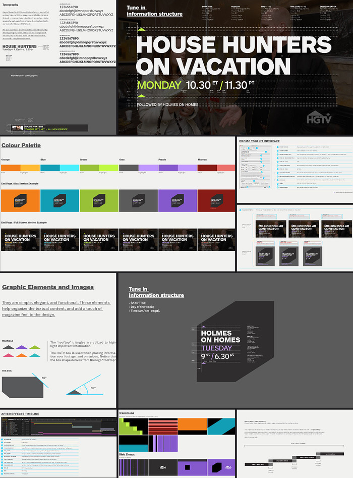 ON-AIR ELEMENTS. A sampling from the brand guidelines.