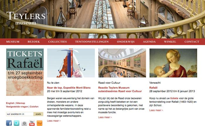 Teylers Museum website 1