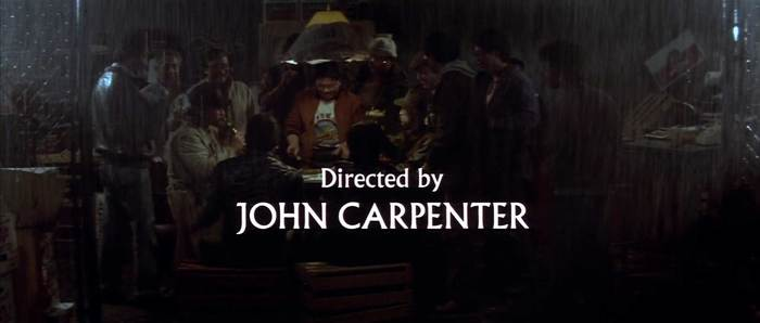 Big Trouble in Little China (1986) broke away from the existing formula slightly for its opening credits, overlaying Albertus through an extended sequence of shots and incorporating lowercase characters differently. Carpenter's directorial credit doesn't show until about six minutes in. More info/images here.