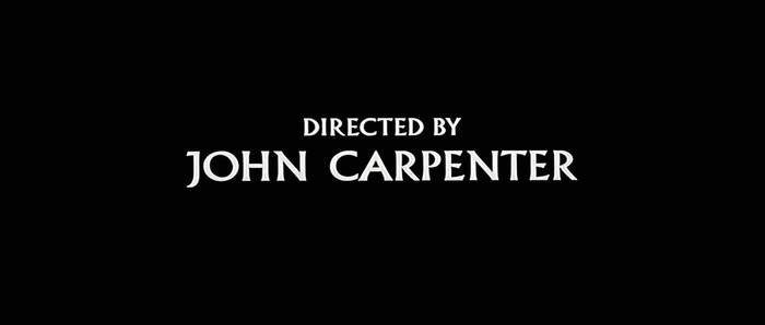 Escape from New York (1981) was the first of Carpenter's films to use Albertus. The titles, credited to Pacific Title, made use of some of the typefaces alternate glyphs, including both descending and non-descending forms of 'J'. More info/images here. See also the Escape from New York movie posters.